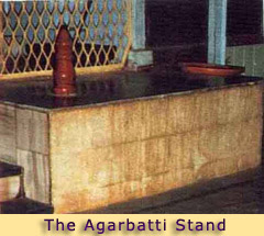 THE OTA OR PLATFORM WITH THE AGARBATTI STAND