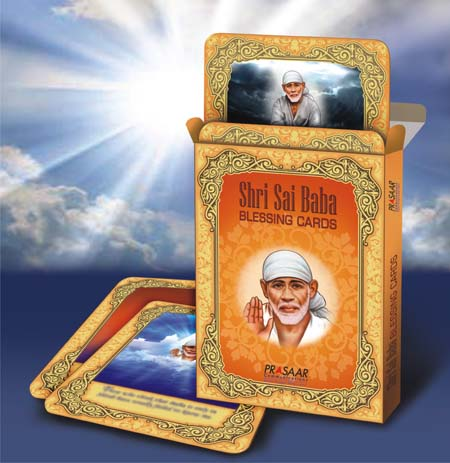 Shri Sai Baba Blessing Cards first time in the world