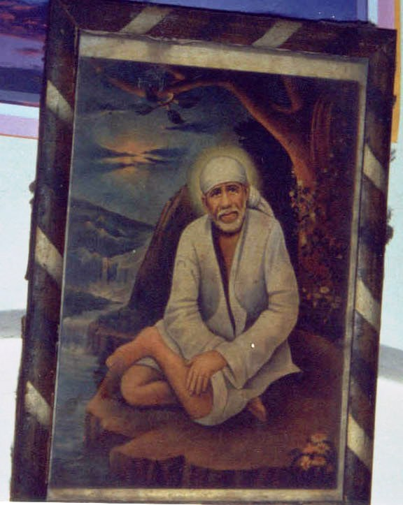original painting of Baba that was hung in Anandrao Pakhade's home